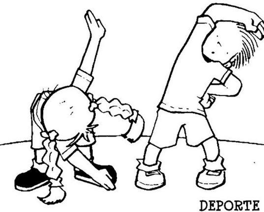 Imagenes de deporta para colorear