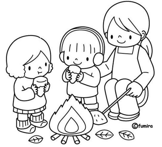 Imagenes de familia con niños para colorear