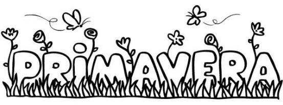 Imagenes de la primavera para colorear para niños