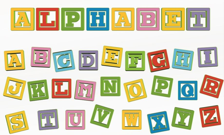 Imagenes de letras del abecedario en ingles