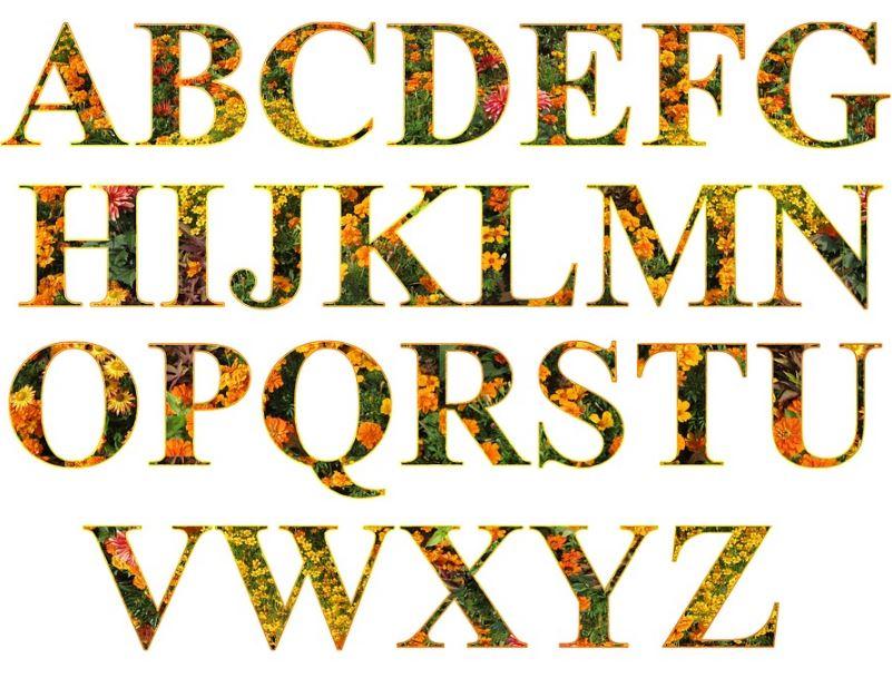 Imagenes de letras del abecedario grandes