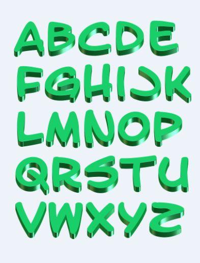 Imagenes de letras lindas verdes