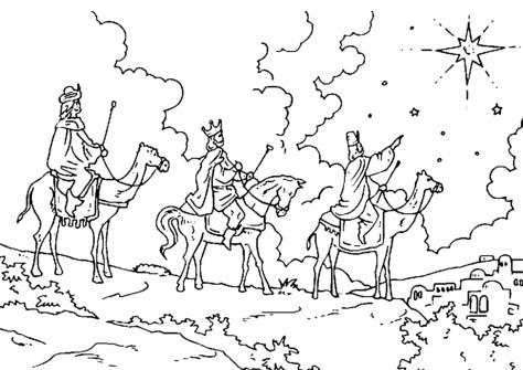 Imagenes de los reyes magos con camellos para colorear