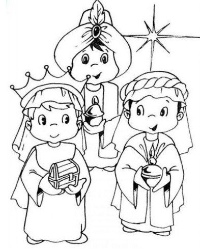 Imagenes de los reyes magos para colorear niños