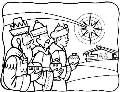 Imagenes de los reyes magos para colorear