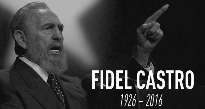 Imagenes de luto Fidel Castro