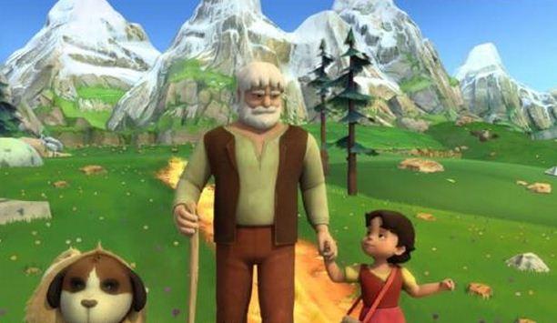 Imagenes del dibujito animado Heidi y su abuelo