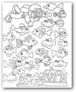 Imagenes para colorear animales del mar