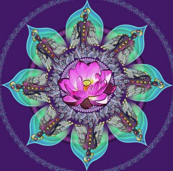Mandalas con flor de loto