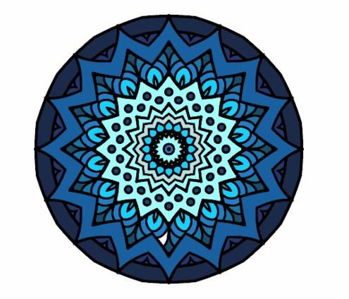 Mandalas lindas de color azul