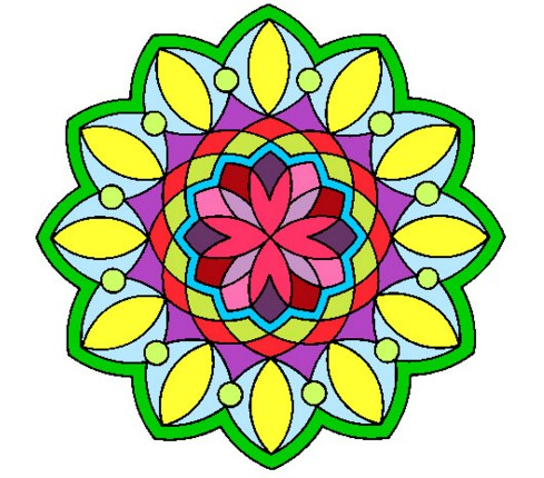Mandalas lindas de colores fuertes