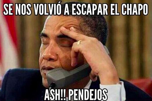 Memes de la fuga del Chapo con Obama