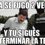 Memes de la segunda fuga de El Chapo Guzmán