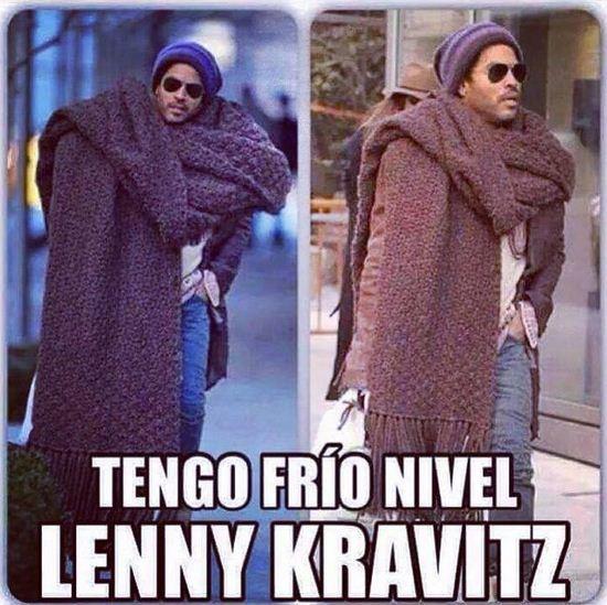 Memes graciosas de tengo frio nivel Lenny Kravitz