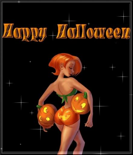 Postales con brujas sexys para Halloween