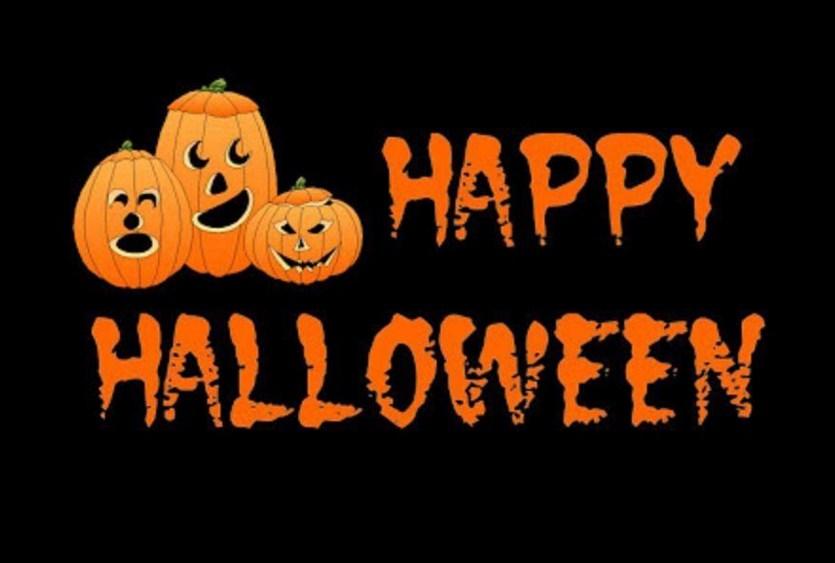 Postales con la frase happy halloween