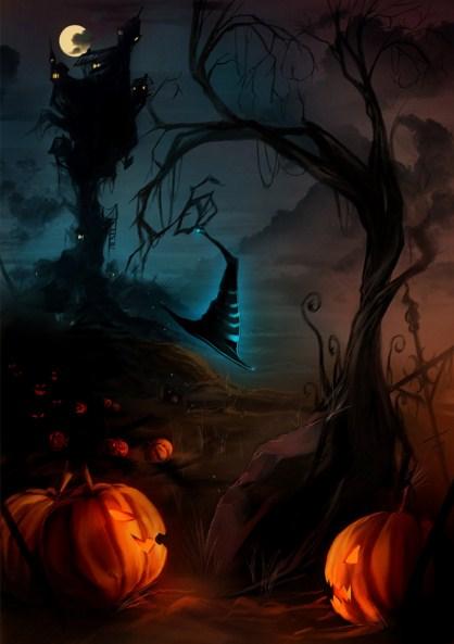 Postales para halloween tenebrosas y oscuras