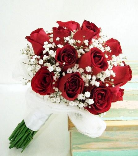 Ramos de novia de rojos
