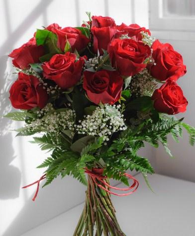 Ramos de novia flores naturales rojas
