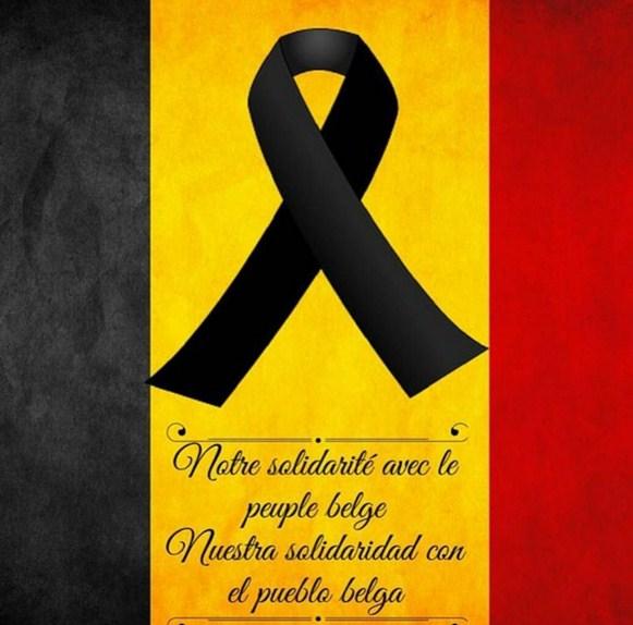 Solidaridad con belgica por los atentados 2016