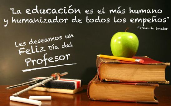 Te deseamos feliz dia del profesor