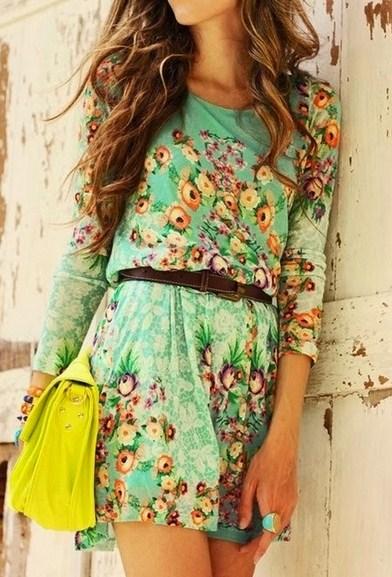 Vestidos casuales cortos floreados