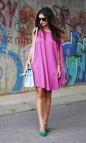 Vestidos cortos casuales rosados