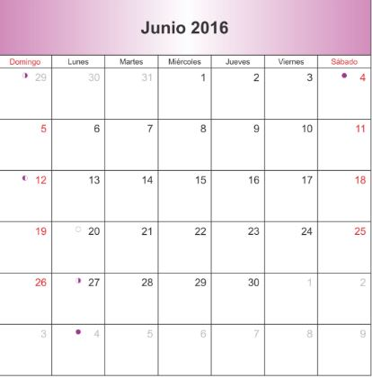 Calendarios mes de junio 2016 for Calendario junio 2016 para imprimir