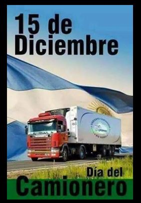 cuando es el día del camionero en Argentina
