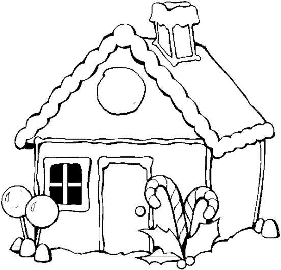 dibujos de casas con chimenea con nieve