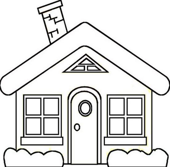 dibujos de casas faciles