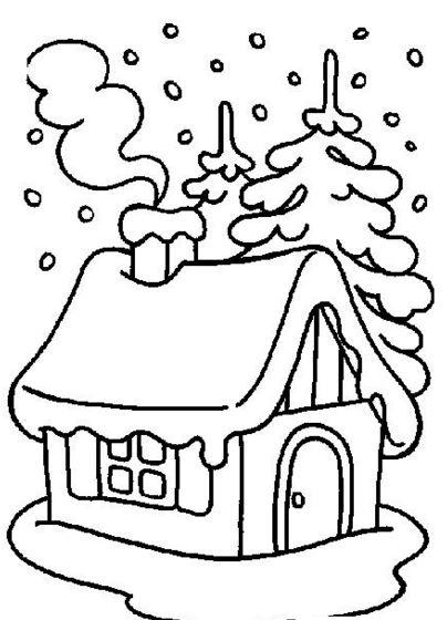 dibujos de casas para pintar para niños