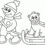 Dibujos de invierno para colorear e imprimir