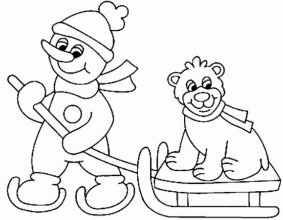 dibujos de invierno infantiles