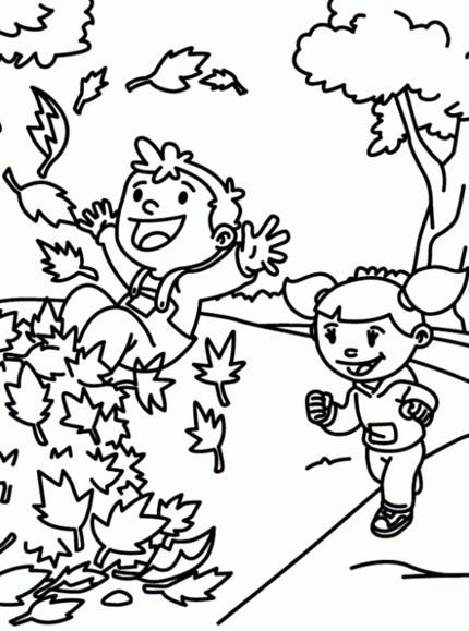 Asombroso Páginas Para Colorear Otoño Para Niños Pequeños Imágenes ...