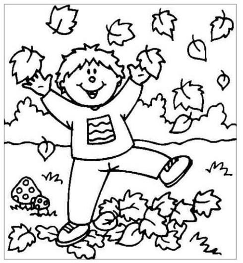 dibujos para colorear de otoño