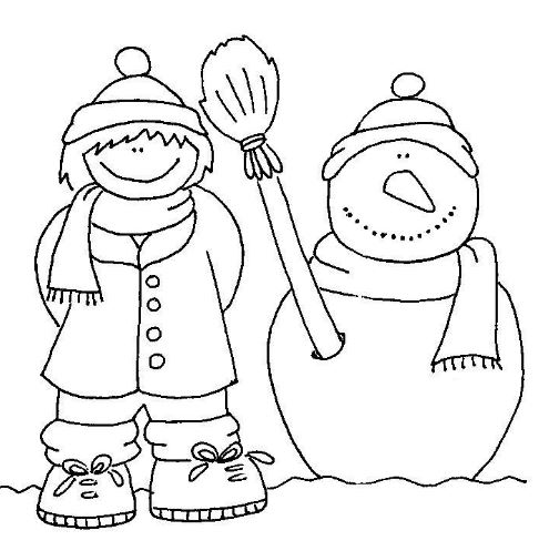 imágenes para colorear de invierno