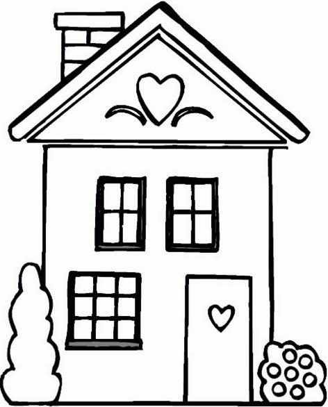 imagenes de casas para colorear con chimenea