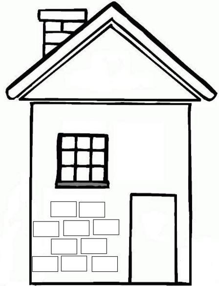 Dibujos de casas con chimenea para colorear for Casas para dibujar