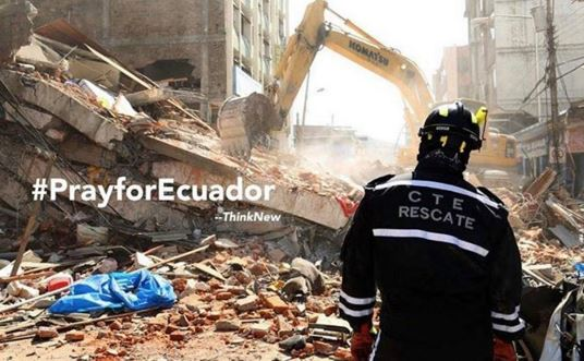 imagenes de ecuador por el terremoto