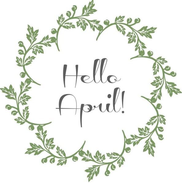 imagenes de hola abril en ingles
