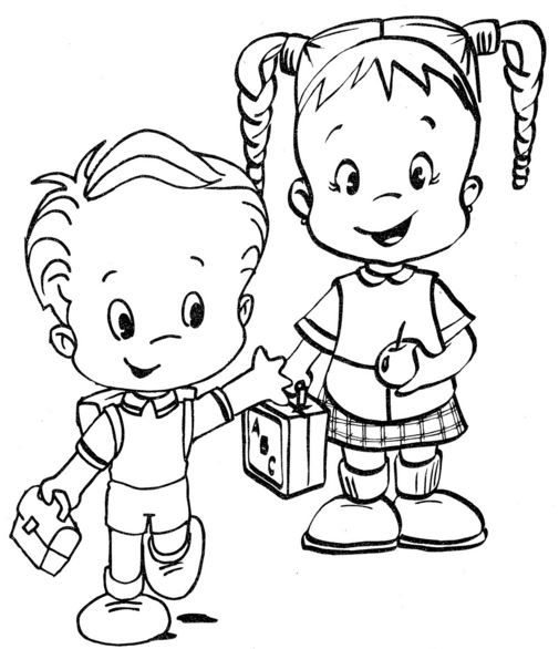 nena y nene para colorear