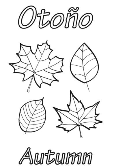 otoño para colorear