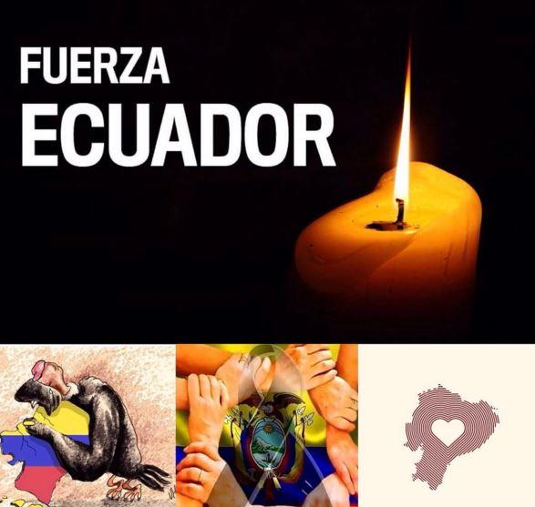 terremoto en ecuador imagenes para facebook